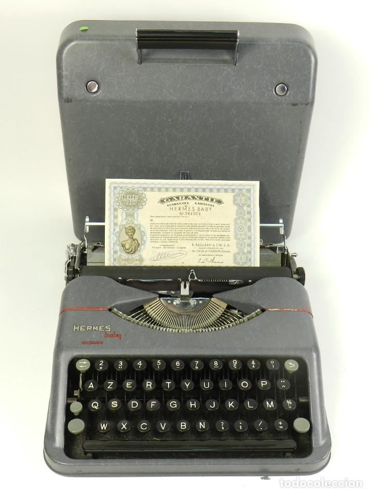 Antigüedades: MAQUINA DE ESCRIBIR HERMES BABY AÑO 1942 TYPEWRITER SCHREIBSMASCHINE - Foto 5 - 175977309