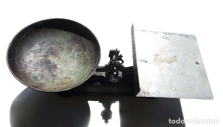Antigüedades: BALANZA 10KG.- 60 LARGO X 23 ALTO CM - Foto 2 - 175994357