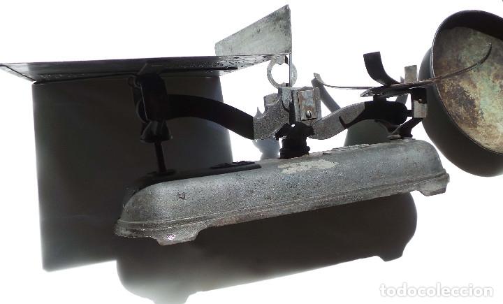 Antigüedades: BALANZA 10KG.- 60 LARGO X 23 ALTO CM - Foto 5 - 175994357