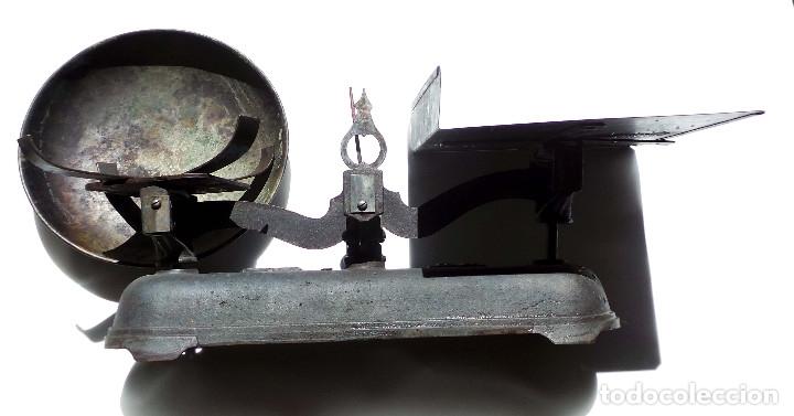 Antigüedades: BALANZA 10KG.- 60 LARGO X 23 ALTO CM - Foto 9 - 175994357