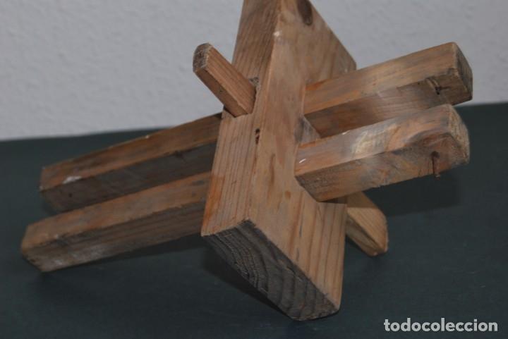 Antigüedades: GRAMIL DOBLE DE CARPINTERO - MADERA - MEDIADOS S.XX - Foto 2 - 176008083