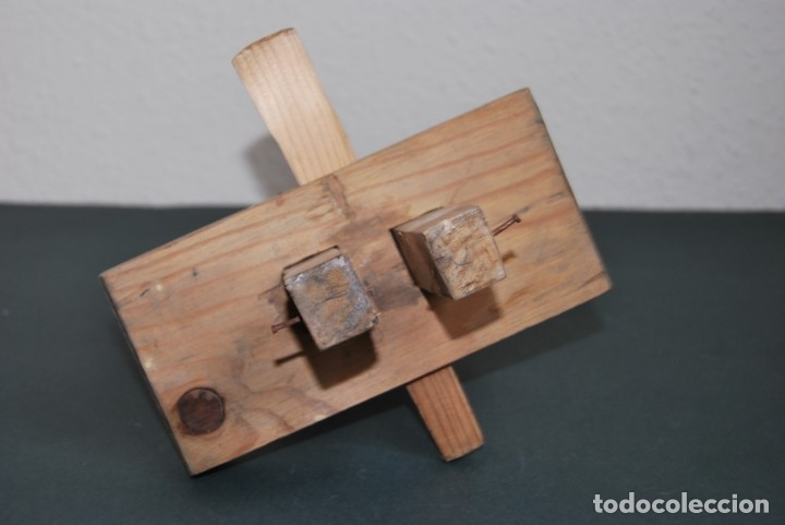 Antigüedades: GRAMIL DOBLE DE CARPINTERO - MADERA - MEDIADOS S.XX - Foto 4 - 176008083