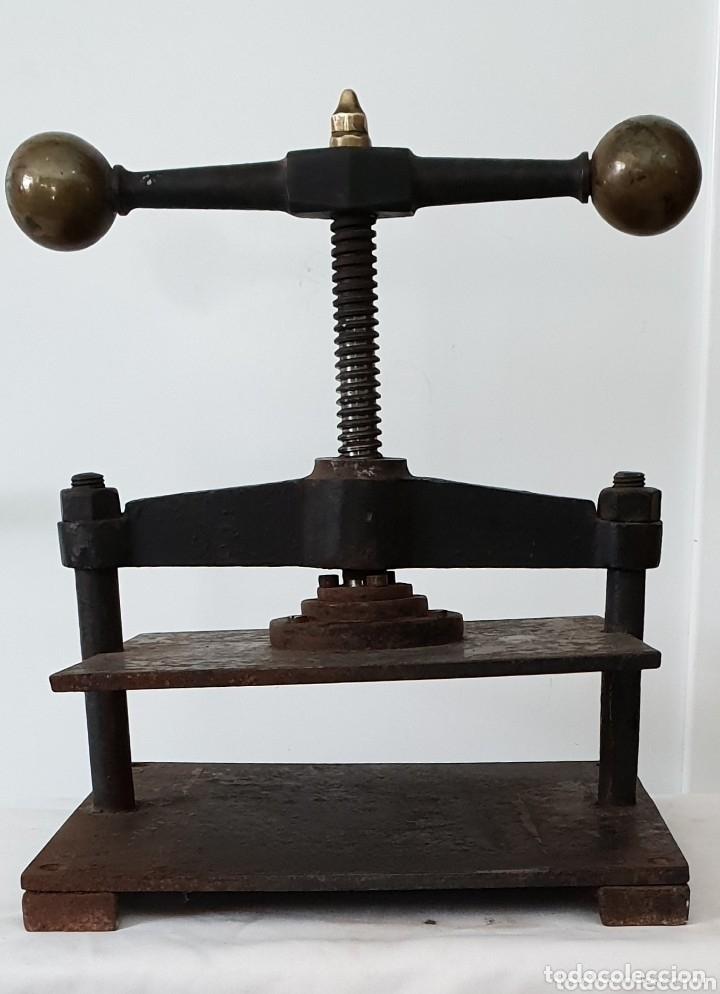PRENSA DE IMPRENTA S.XIX (Antigüedades - Técnicas - Herramientas Profesionales - Imprenta)