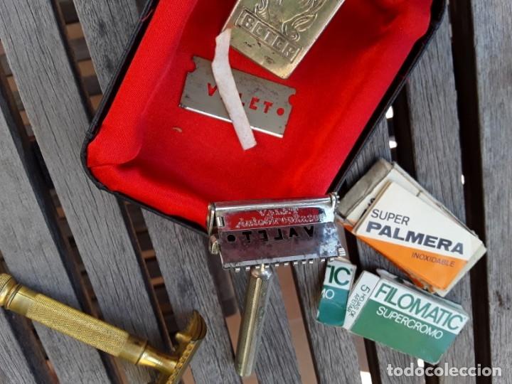 Antigüedades: Juego de 2 maquinillas antiguas en estuche. Gillete años 30 y Valet años 20. - Foto 2 - 176096745