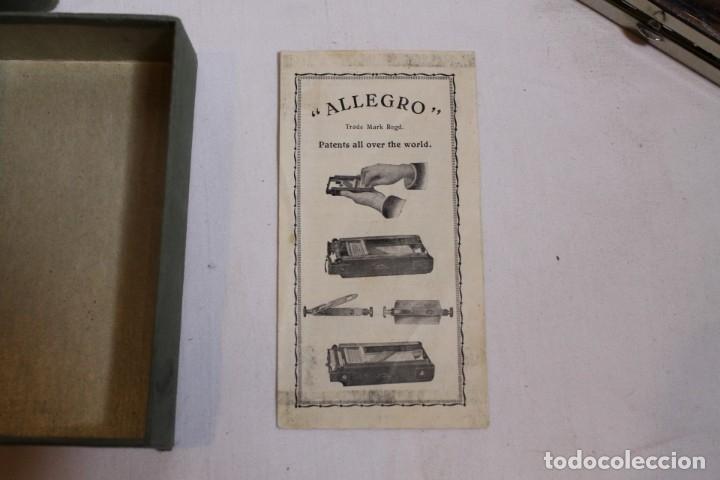 Antigüedades: AFILADOR O SUAVIZADOR DE CUCHILLAS DE AFEITAR ALLEGRO - Foto 4 - 176105947