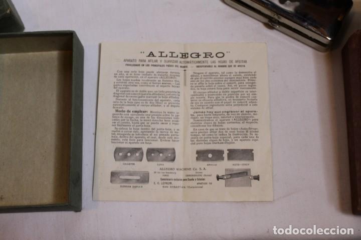 Antigüedades: AFILADOR O SUAVIZADOR DE CUCHILLAS DE AFEITAR ALLEGRO - Foto 5 - 176105947