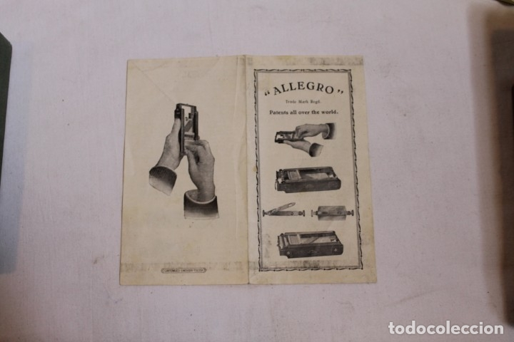 Antigüedades: AFILADOR O SUAVIZADOR DE CUCHILLAS DE AFEITAR ALLEGRO - Foto 6 - 176105947