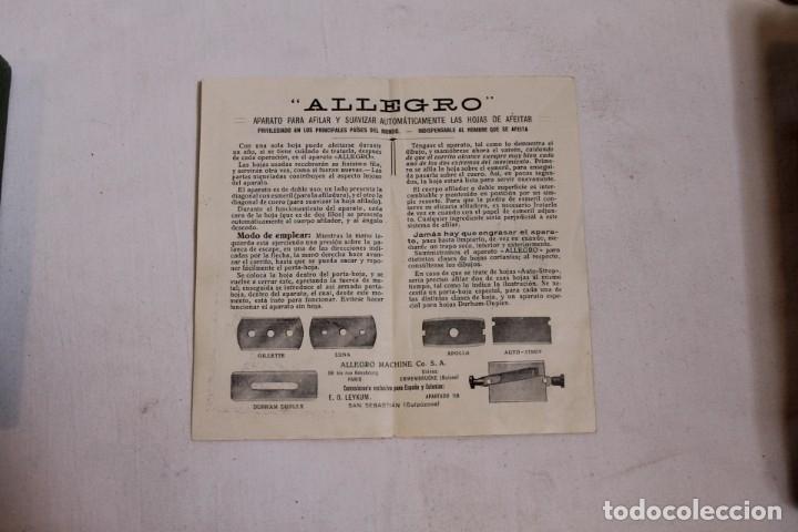 Antigüedades: AFILADOR O SUAVIZADOR DE CUCHILLAS DE AFEITAR ALLEGRO - Foto 7 - 176105947