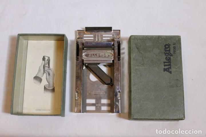 Antigüedades: AFILADOR O SUAVIZADOR DE CUCHILLAS DE AFEITAR ALLEGRO - Foto 9 - 176105947
