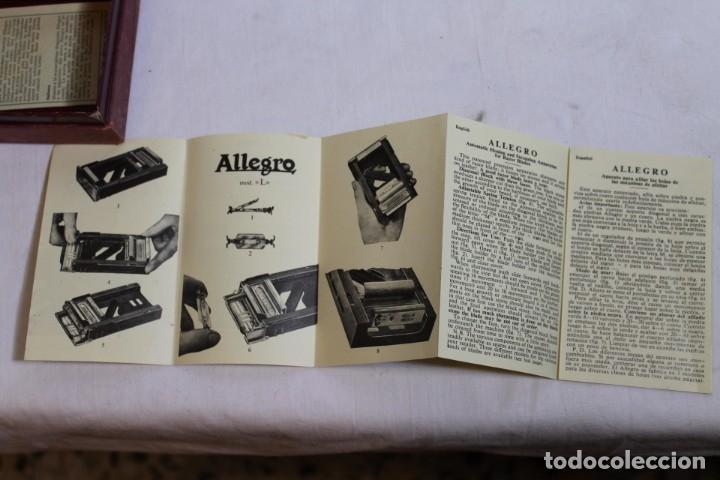 Antigüedades: SUAVIZADOR ALLEGRO MODELO L ,PARA HOJILLAS - Foto 7 - 176126944