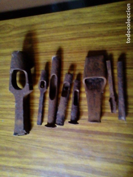 LOTE DE 8 SACABOCADOS ANTIGUOS. (Antigüedades - Técnicas - Herramientas Antiguas - Otras profesiones)