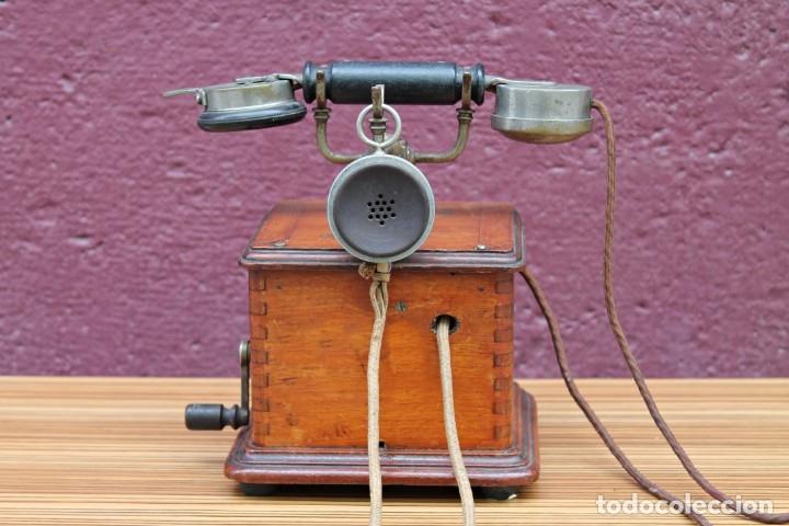 Teléfonos: TELEFONO ANTIGUO DE MADERA. - Foto 2 - 176175522