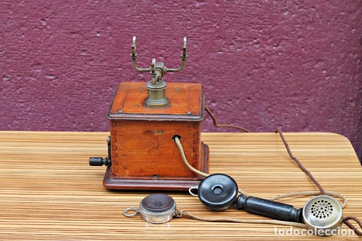 Teléfonos: TELEFONO ANTIGUO DE MADERA. - Foto 3 - 176175522
