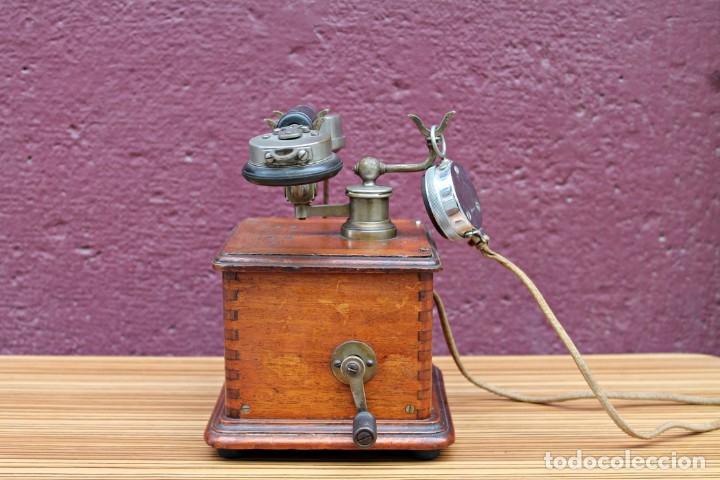 Teléfonos: TELEFONO ANTIGUO DE MADERA. - Foto 4 - 176175522