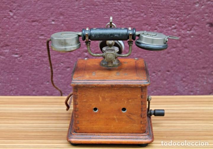 Teléfonos: TELEFONO ANTIGUO DE MADERA. - Foto 5 - 176175522