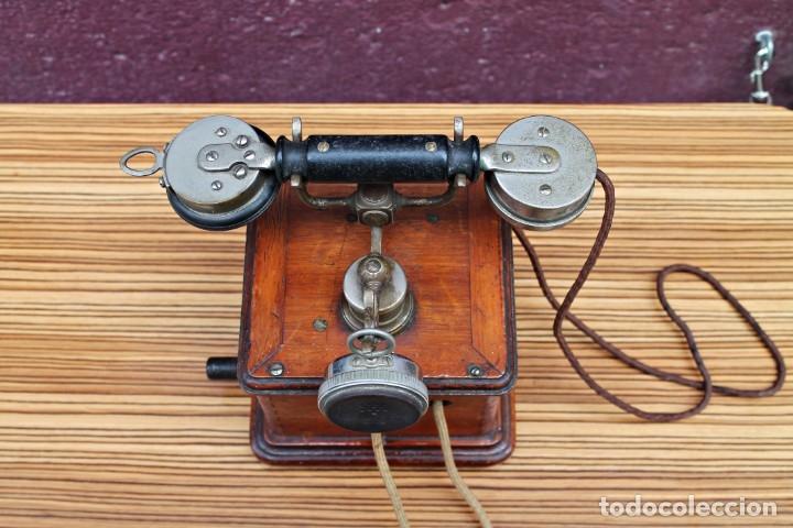Teléfonos: TELEFONO ANTIGUO DE MADERA. - Foto 6 - 176175522