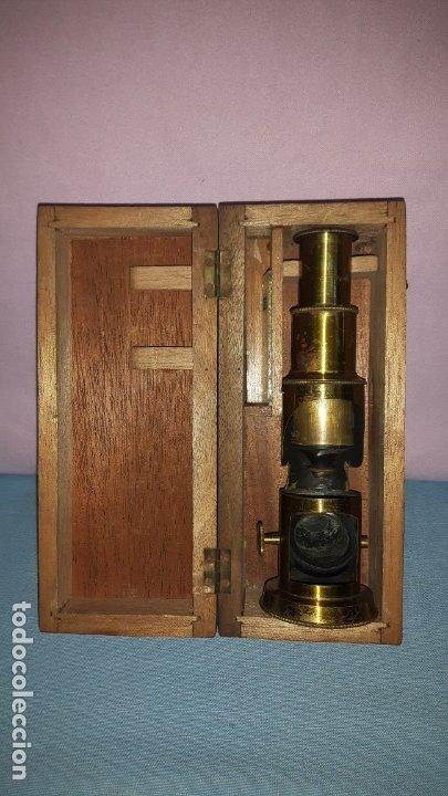MICROSCOPIO TAMBOR (Antigüedades - Técnicas - Instrumentos Ópticos - Microscopios Antiguos)