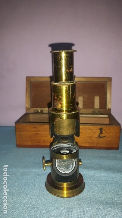 Antigüedades: MICROSCOPIO TAMBOR - Foto 3 - 176209757
