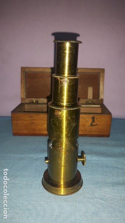 Antigüedades: MICROSCOPIO TAMBOR - Foto 4 - 176209757