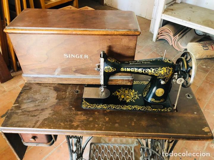 Antigüedades: Singer máquina coser - Foto 2 - 176273277
