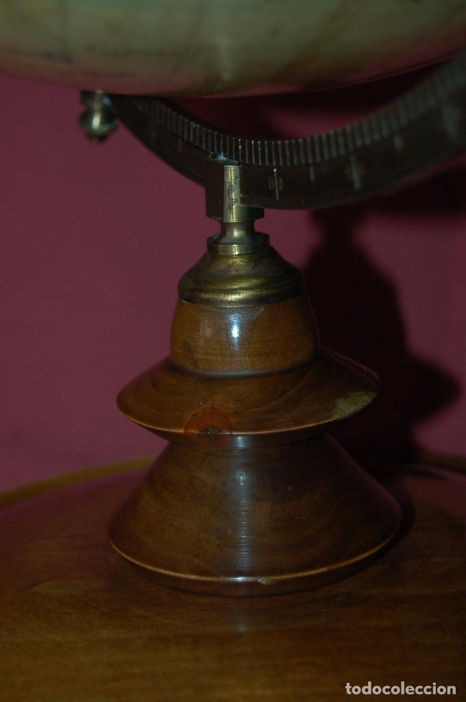 Antigüedades: GLOBO TERRÁQUEO POLÍTICO ALEMÁN ( BOLA DEL MUNDO ) SCHOTTE, 33 CM, AÑO 1906 - Foto 4 - 176276017
