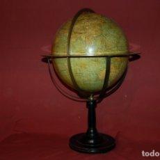 Antigüedades: GLOBO TERRÁQUEO POLITICO FRANCÉS (BOLA DEL MUNDO), G. THOMAS, 33 CM, AÑO 1880.. Lote 72117071