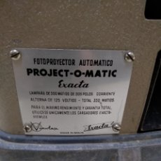 Antigüedades: PROYECTOR. PROJECT-O- MATIC. EXACTA. VER FOTOS.. Lote 176398857