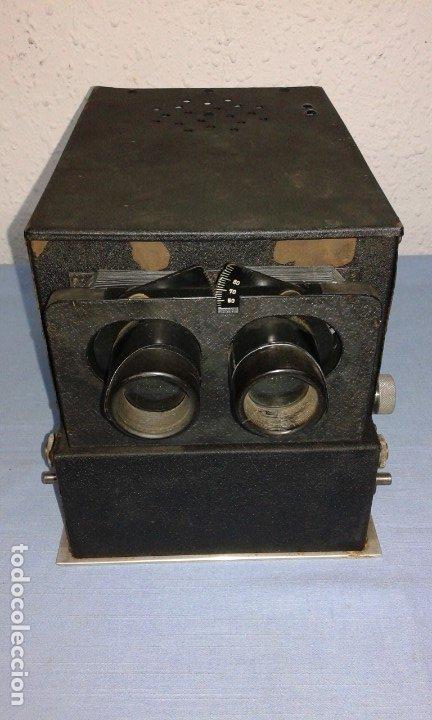 VISOR ESTEROSCOPICO DE 1950 ELECTRICO (Antigüedades - Técnicas - Aparatos de Cine Antiguo - Visores Estereoscópicos Antiguos)