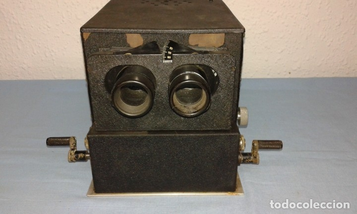 Antigüedades: VISOR ESTEROSCOPICO DE 1950 ELECTRICO - Foto 4 - 176437188