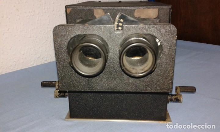 Antigüedades: VISOR ESTEROSCOPICO DE 1950 ELECTRICO - Foto 14 - 176437188