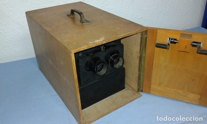 Antigüedades: VISOR ESTEROSCOPICO DE 1950 ELECTRICO - Foto 17 - 176437188