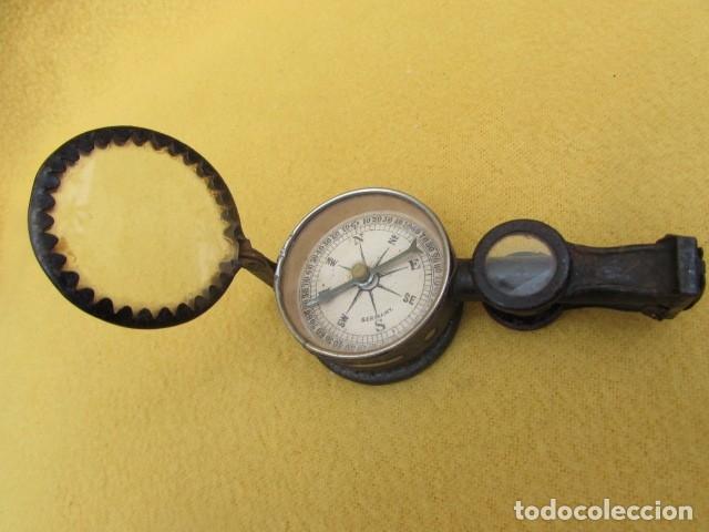 Antigüedades: BRÚJULA CON BINOCULARES Y ESPEJO DE SEÑALES - Alemania - WWI - Foto 9 - 176460689