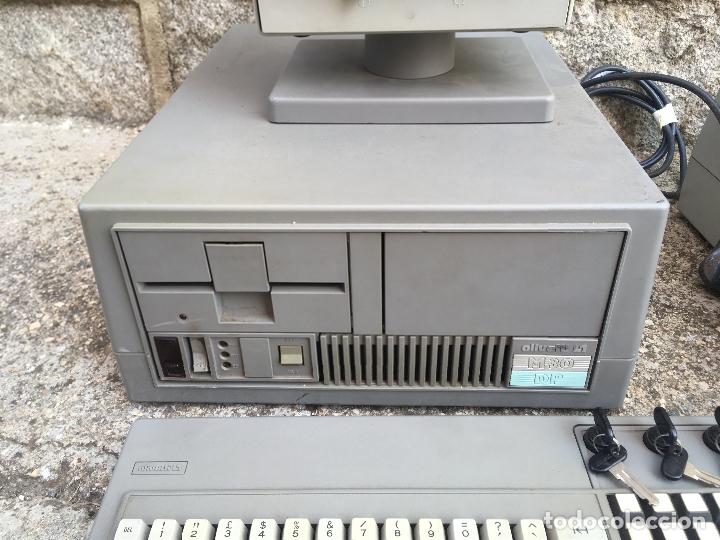 Antigüedades: ORDENADOR PC OLIVETTI L1 M30 DP CON IMPRESORA, MONITOR Y TECLADO CON LLAVES. PERSONAL COMPUTER 1983 - Foto 4 - 176543988