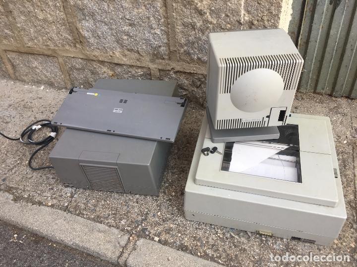 Antigüedades: ORDENADOR PC OLIVETTI L1 M30 DP CON IMPRESORA, MONITOR Y TECLADO CON LLAVES. PERSONAL COMPUTER 1983 - Foto 10 - 176543988