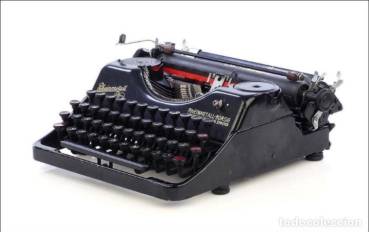 Antigüedades: Antigua Máquina de Escribir Rheinmetall. Alemania, 1931 - Foto 2 - 176570203