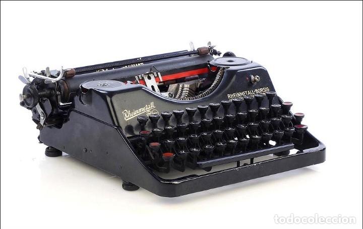 Antigüedades: Antigua Máquina de Escribir Rheinmetall. Alemania, 1931 - Foto 5 - 176570203