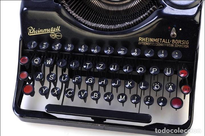 Antigüedades: Antigua Máquina de Escribir Rheinmetall. Alemania, 1931 - Foto 6 - 176570203