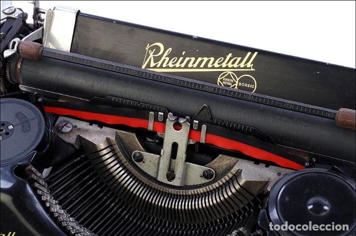 Antigüedades: Antigua Máquina de Escribir Rheinmetall. Alemania, 1931 - Foto 7 - 176570203