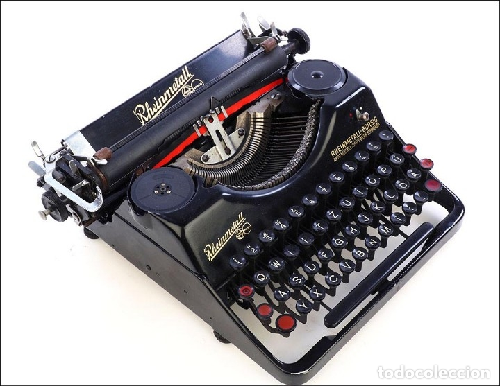 Antigüedades: Antigua Máquina de Escribir Rheinmetall. Alemania, 1931 - Foto 8 - 176570203