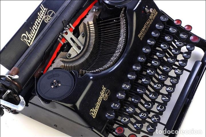 Antigüedades: Antigua Máquina de Escribir Rheinmetall. Alemania, 1931 - Foto 9 - 176570203