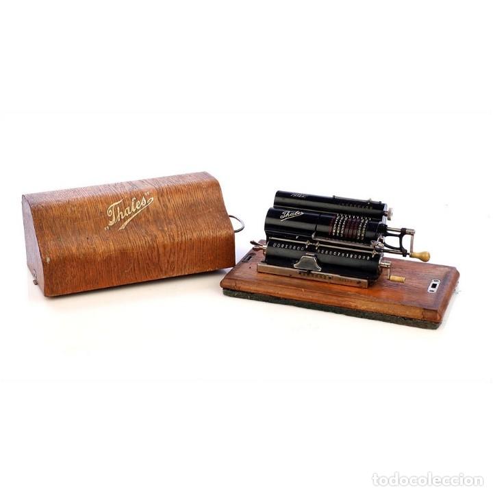 ANTIGUA CALCULADORA THALES MODELO CE 2ª VERSIÓN. ALEMANIA, 1925 (Antigüedades - Técnicas - Aparatos de Cálculo - Calculadoras Antiguas)