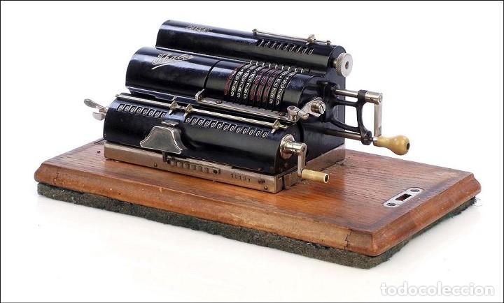 Antigüedades: Antigua Calculadora Thales Modelo CE 2ª Versión. Alemania, 1925 - Foto 2 - 176570694