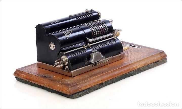 Antigüedades: Antigua Calculadora Thales Modelo CE 2ª Versión. Alemania, 1925 - Foto 4 - 176570694
