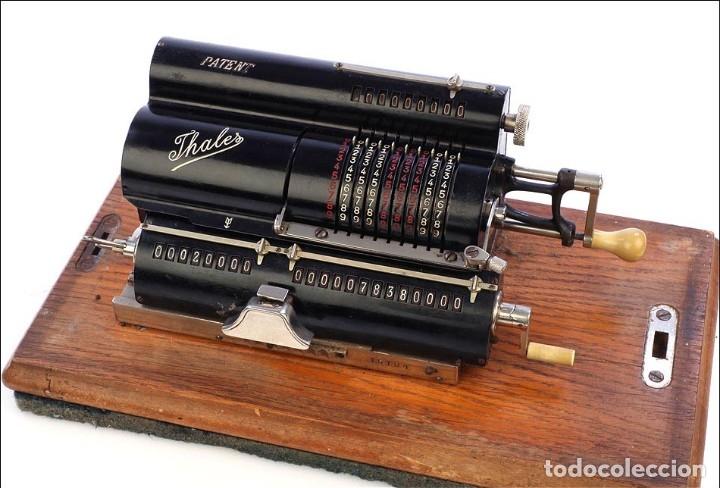 Antigüedades: Antigua Calculadora Thales Modelo CE 2ª Versión. Alemania, 1925 - Foto 5 - 176570694