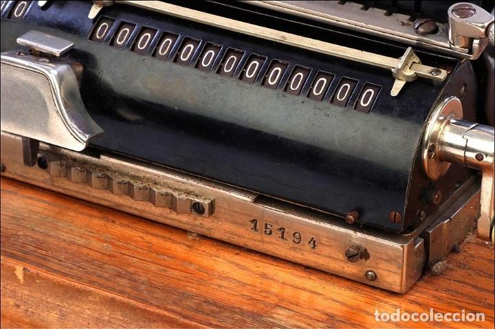 Antigüedades: Antigua Calculadora Thales Modelo CE 2ª Versión. Alemania, 1925 - Foto 10 - 176570694