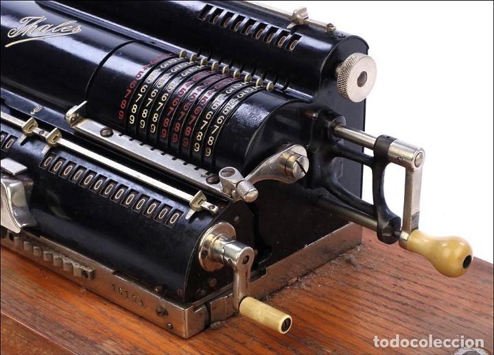 Antigüedades: Antigua Calculadora Thales Modelo CE 2ª Versión. Alemania, 1925 - Foto 11 - 176570694
