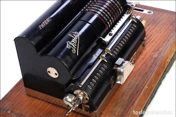 Antigüedades: Antigua Calculadora Thales Modelo CE 2ª Versión. Alemania, 1925 - Foto 12 - 176570694