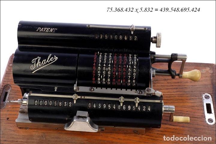 Antigüedades: Antigua Calculadora Thales Modelo CE 2ª Versión. Alemania, 1925 - Foto 13 - 176570694