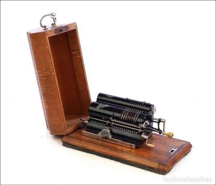 Antigüedades: Antigua Calculadora Thales Modelo CE 2ª Versión. Alemania, 1925 - Foto 14 - 176570694