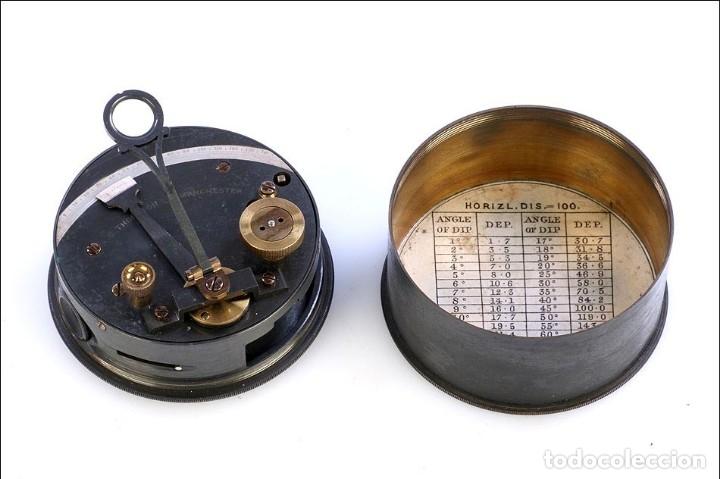 Antigüedades: Antiguo Sextante de Bolsillo Thornton. Manchester, Inglaterra, Circa 1920 - Foto 6 - 176573233